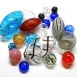 Perle in vetro soffiato e vetro di Murano