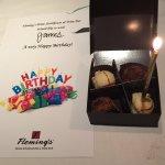 Lovely box of truffles, birthday card.