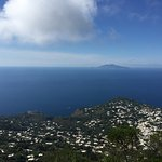 I think that is the island of Ischia in the distance. We are on the Island of Capri