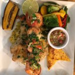 Special: blackened barracuda with scallops and shrimp
