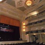 Parte interna do teatro.