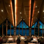 Stunning floor-to-ceiling windows at Edgewood Restaurant provides an unforgettable experience.