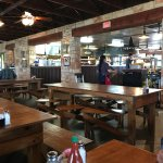 Menu and inside Salt Lick restaurant