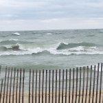 Windy beach day at Silver Beach