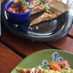 Yummy quesadillas at poolside-not spicy enough though.