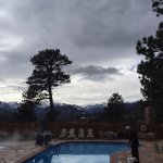 Heated pool with hot tub, gorgeous view.