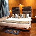 Bedroom area in the suite