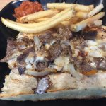Cheesesteak and fries