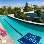 The rooftop pool is a great and private spot for sunbathing right in the middle of Mexico City!