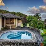 The Luxury Cottages are equipped with a private plunge pool.