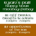An awesome daily Happy Hour Special @ the bar!!!
