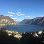 View of Lugano and the Lake