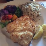Fish Special: Garlic Encrusted Halibut