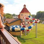 Bavarian Belle and our slides in-view!