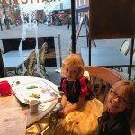 Enjoying Our Halloween Treat at Bella Italia