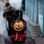 Joker on steam train