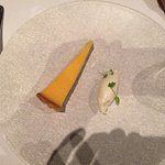 7th course desert of lemon tart