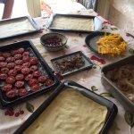 Tart ingredients ready to prepare