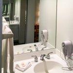 Sink, Mirror & Hair Drier