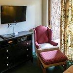 Another Dresser, TV, Seat & Door to Balcony