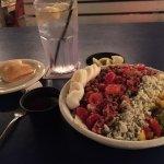 Flounder's Florida cobb salad and dinner roll