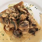 Chicken and mushroom crepes... So good.
