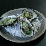 Featuring YAGIZ oysters , cucumber granitas