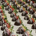Valentine's Dinner hand-dipped chocolate strawberries