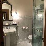 Modern bathroom in classic style.