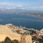 Akronafplia Fortress seen from Fortress overlooking Nafplio