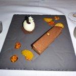 Hazelnut Gianduja Wave dessert