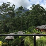 View of Arenal Volcano from Mis Amores restaurant