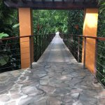 Bridge to the easily accessible Nayara Gardens side of the resort
