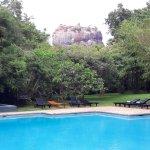 Swimming pool and view of Sigiriya rock