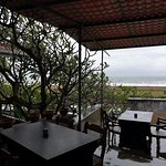 open terrace and view of ocean