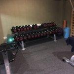 Veralteter fitnessbereich