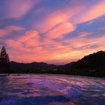 Abendstimmung vom Pool aus