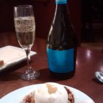 Apple crisp and Prosecca - what more could one ask for!