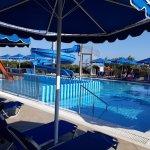 water slide pool near kids club