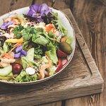 Salat mit Gambas