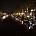 The Canal at night outside The Toren