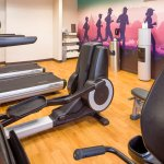 Fully equipped fitness center for staying active on the go