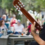 Live music in the garden on weekends