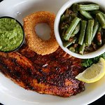 Blackened Fish and Green Beans