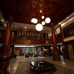 Spacious Lobby with elegant wooden structures