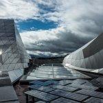 sur le toit du musée des confluences
