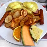 Eggs Benedict with Sausage