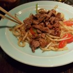 Vorspeise japanische Nudeln und Rind