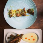 Beef Anticucho & Asparagus Tempura