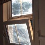 Dirty window when the sun shone through.
